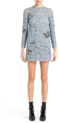 Valentino Butterfly Embroidered Lace Dress