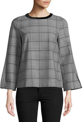 Marella Azzorre Plaid Top