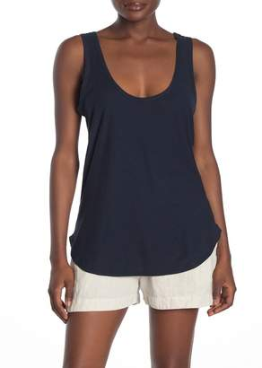 James Perse Scoop Neck Burnout Tank Top