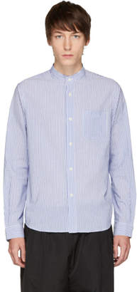A.P.C. Blue and White Robinson Shirt