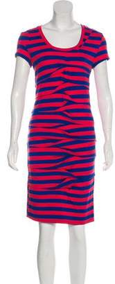 Nicole Miller Striped Knee-Length Dress