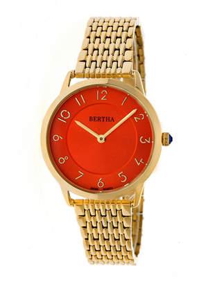 BERTHA Bertha Abby Womens Silver Tone Bracelet Watch-Bthbr6803