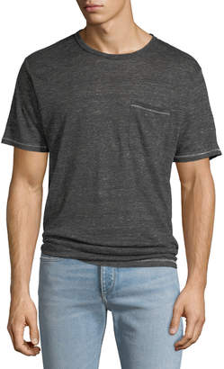 Rag & Bone Men's Owen Over-Dyed Linen Pocket T-Shirt