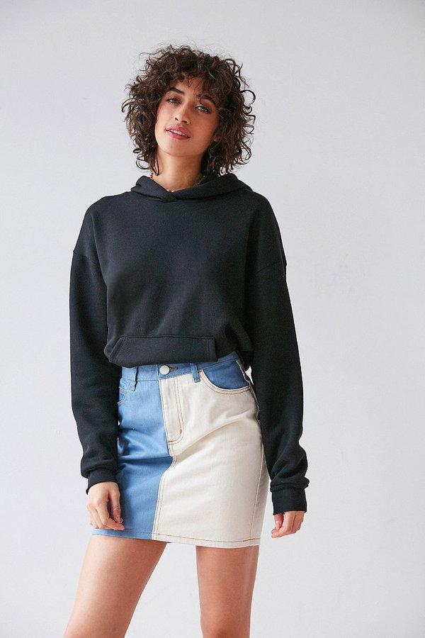 BDG Two-Tone Pencil Mini Skirt