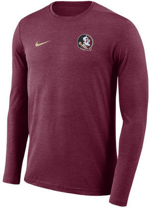 Nike Men's Florida State Seminoles Long Sleeve Dri-Fit Coaches T-Shirt