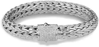 John Hardy Classic Chain Bracelet with Pave Diamonds