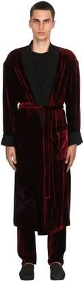 Triple Rrr Viscose & Silk Velvet Robe