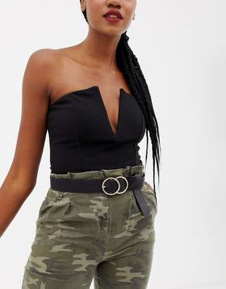 Missguided double ring belt