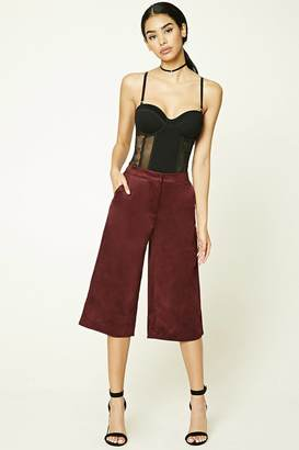 FOREVER 21+ Faux Suede Culottes $12 thestylecure.com