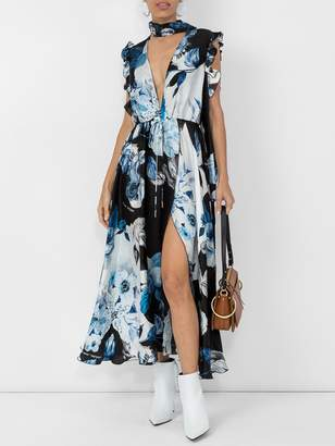 Off-White Off White Floral print maxi dress