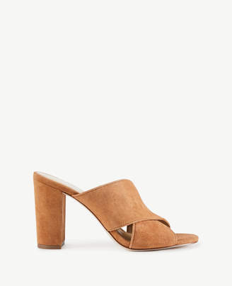 Ann Taylor Jeanette Suede Heeled Sandals
