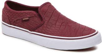 Vans Asher Croc Slip-On Sneaker - Women's