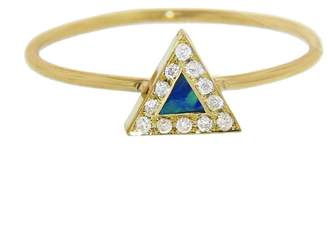 Jennifer Meyer Opal Inlay Diamond Triangle Ring
