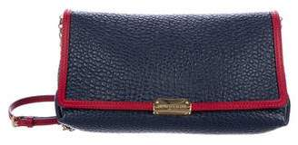 Burberry Pebbled Leather Chain-Link Shoulder Bag