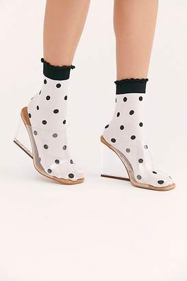 Free People Spots And Dots Sheer Ankle Socks