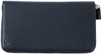 Prada Navy Leather Wallets