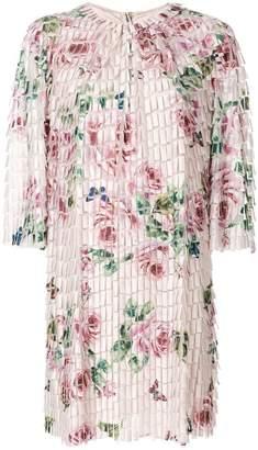 Dolce & Gabbana floral print fringe style dress