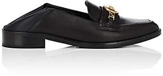 Versace Women's Logo-Bit Leather Loafers - Black