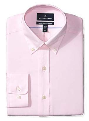Buttoned Down Men's Classic Fit Button Collar Solid Non-Iron Dress Shirt