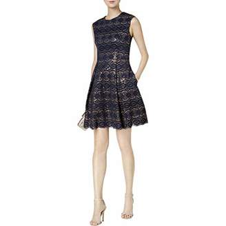 Vince Camuto Women's Bonded Lace Fit and Flare Dress