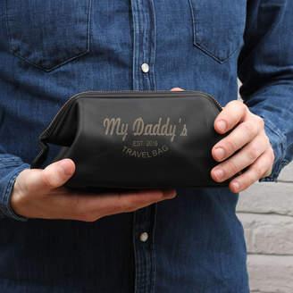 Hurleyburley man Personalised Luxury Italian Leather Wash Bag