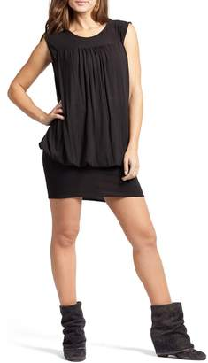 Savi Mom 'The Little Black Tulip' Blouson Maternity/Nursing Dress