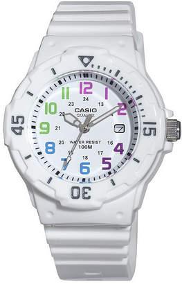 Casio Womens White Resin Strap Diver Sport Watch LRW200H-7BV