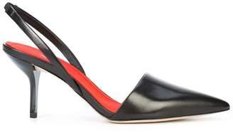 Diane von Furstenberg pointed toe slingback pumps