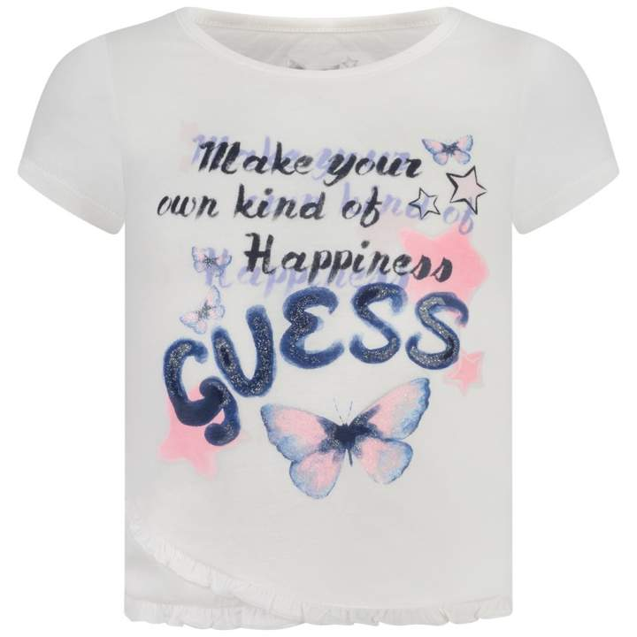 GUESS GuessIvory Frilly Butterfly Top