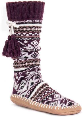 Muk Luks Tassel Sock Boot Slipper - Women's