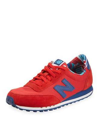New Balance 410 Mesh Low-Top Sneaker, Red $64.95 thestylecure.com