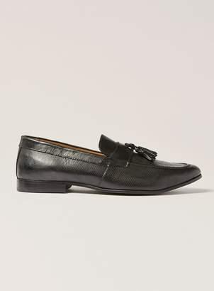 Topman Black Leather Rigel Tassel Loafers