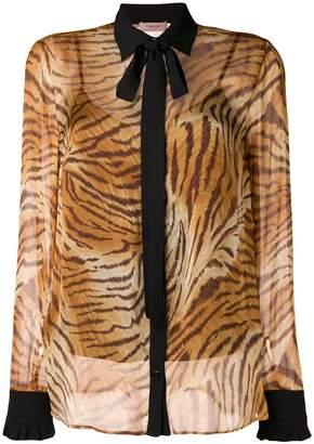 Twin-Set sheer tiger print shirt