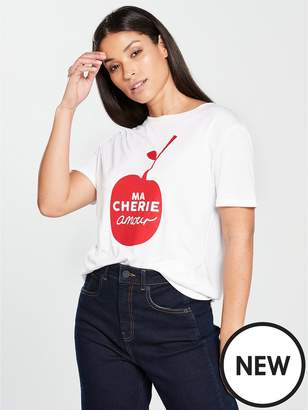 Whistles Mon Amour Cheri Logo Tshirt