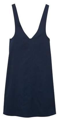 MANGO Short cotton pinafore dress