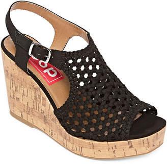 POP Womens Evie Wedge Sandals