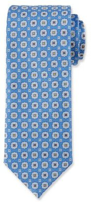 Canali Woven Medallion Silk Tie, Blue $160 thestylecure.com