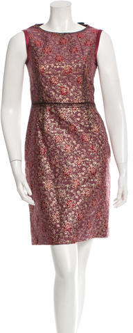 prada Prada Brocade Sheath Dress