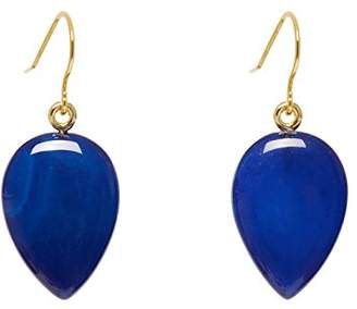 Lola Rose Women Blue Coral Agate Dangle and Drop Earrings 702546