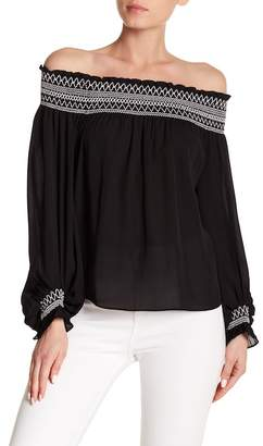 Laundry by Shelli Segal Off Shoulder Balloon Sleeve Top