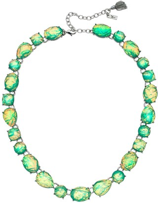 Vera Wang Simply Vera Green Simulated Crystal Collar Statement Necklace