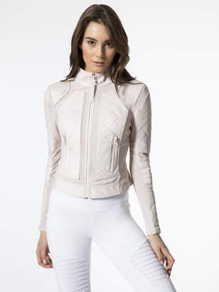 Blanc Noir Leather Mesh Moto