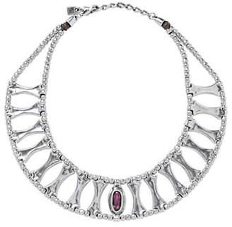 Uno de 50 Swarovski Crystal and Silver Guardian Necklace
