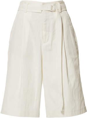 Vince Belted Cotton-Blend Bermuda Shorts Size: 0