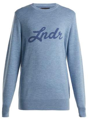 Lndr - Double Happiness Merino Wool Sweater - Womens - Light Blue