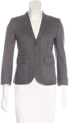 Thom Browne Eyelet Notch-Lapel Blazer $275 thestylecure.com
