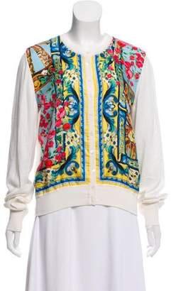 Dolce & Gabbana Silk Sicilian Print Cardigan