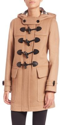 Burberry Finsdale Wool Toggle Coat $995 thestylecure.com