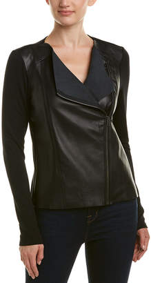 Michael Stars Leather Moto Jacket