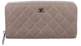 Chanel Caviar Zip-Around Wallet